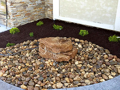 water feature for landscaping project